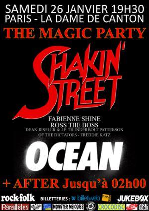 Shakin' Street & OCEAN + After à Paris sur La Dame de Canton