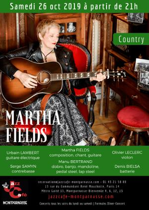 Martha Fields au Jazz Café Montparnasse