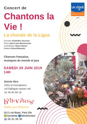 CHORALE DE LA LIGUE CONTRE LE CANCER : CHANTONS LA VIE !