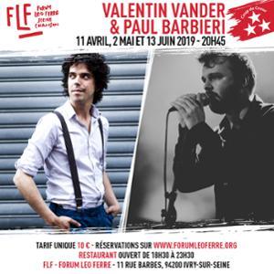 Valentin Vander & Paul Barbieri au FLF - Forum Léo Ferré