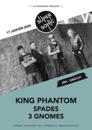 King Phantom • Spades • Les Trois Gnomes / Supersonic (Free)