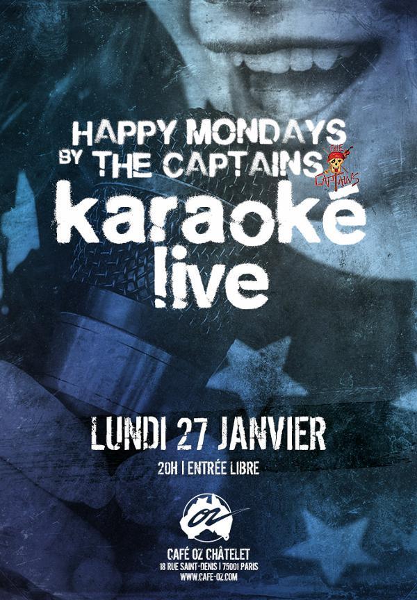Happy Mondays N°4 / Karaoké live w/The Captains