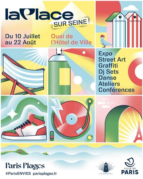 La Place Sur Seine   Paris Plage 2021