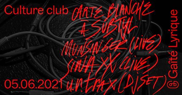 Culture club : carte blanche à Subtyl