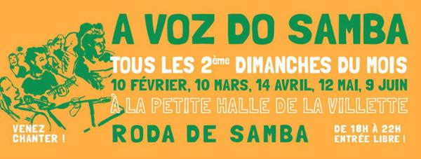 A Voz do Samba - 2019 - Venez chanter avec nous !