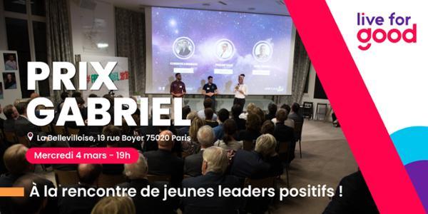 LIVE FOR GOOD : SOIRÉE DU PRIX GABRIEL 2020