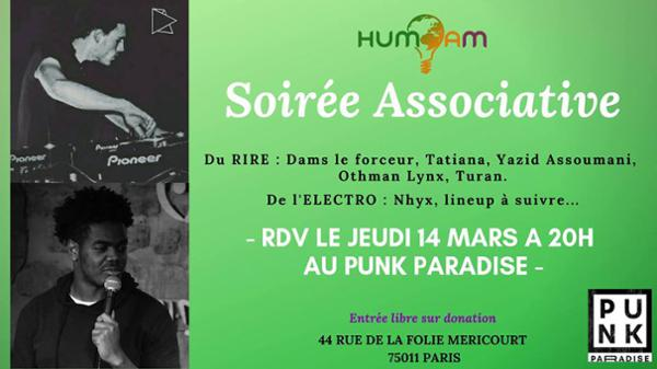 Soirée associative Hum'am : stand-up & dj sets