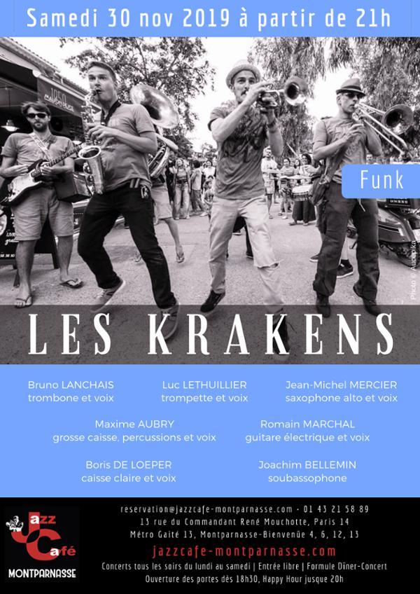 Les Krakens au Jazz Café Montparnasse
