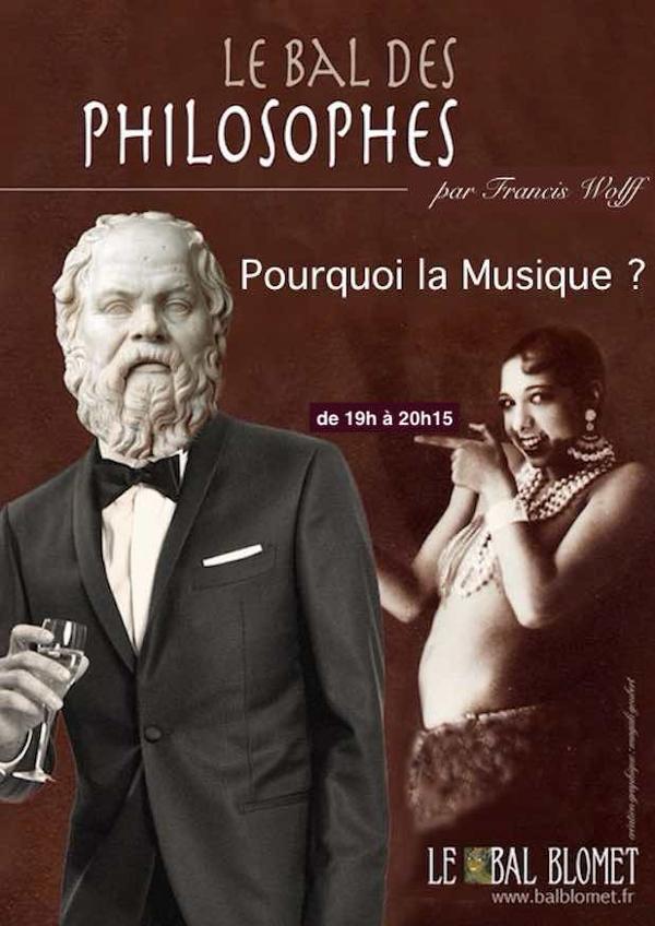 -- CONFÉRENCE REPORTÉE -- LE BAL DES PHILOSOPHES – POURQUOI LA MUSIQUE ?