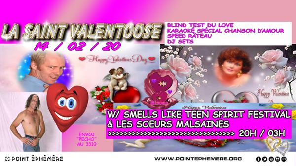 LA SAINT VALENTOOSE w/ SMELLS LIKE TEEN SPIRIT FESTIVAL & LES SOEURS MALSAINES