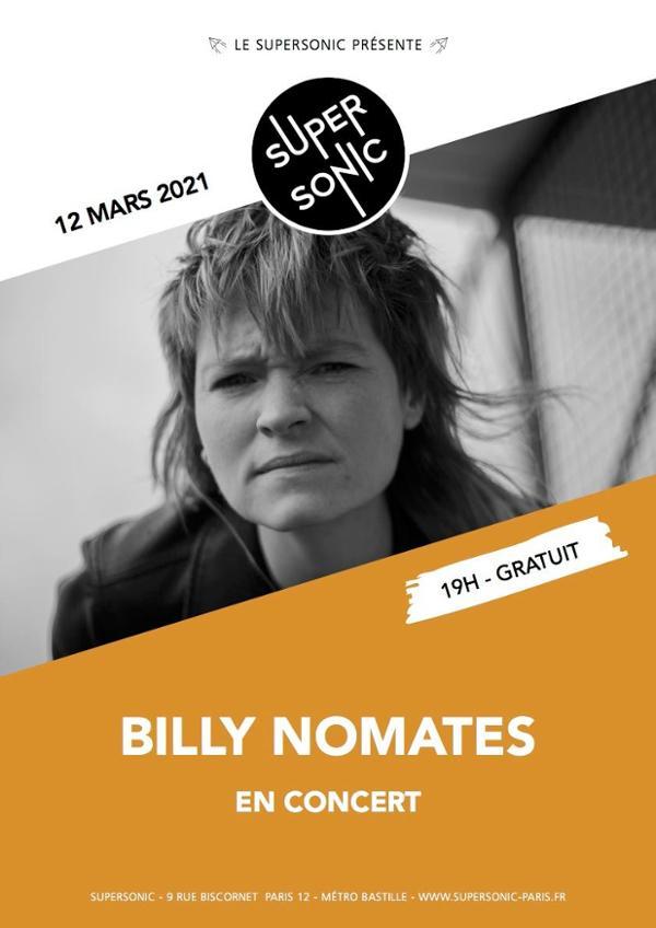 Billy Nomates en concert au Supersonic (Free entrance)